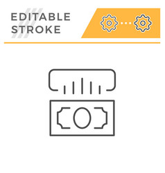 cashing editable stroke line icon vector image