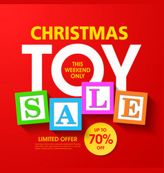 Christmas toy sale banner vector