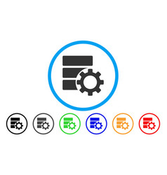 Database options gear rounded icon vector