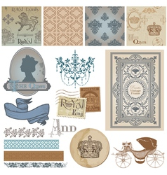 Design Elements - Vintage Royalty Set vector image