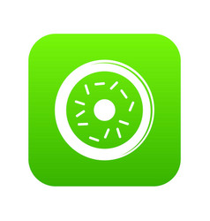 donut icon green vector image