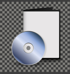 dvd disc and box template for your design vector image
