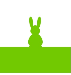 Easter bunny green silhouette vector