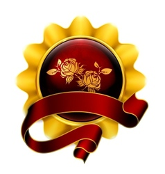 Emblem red vector image vector image