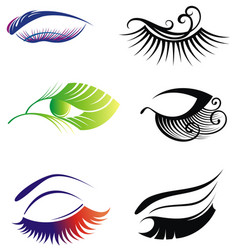 Eyes and eye icon set collection vector