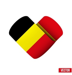 Flag icon in the form of heart I love Belgium vector