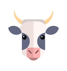 Flat design Cow Farm Animal vector image