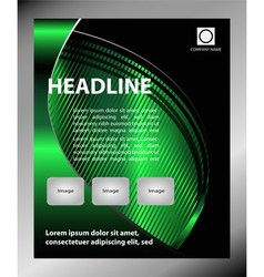 Flyer leaflet booklet layout Editable design tem vector