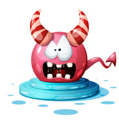 funny cute magic ball characters vector image