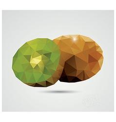 Geometric polygonal fruit triangles kiwi vector image