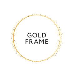 Gold frame round minimalism design banner vector