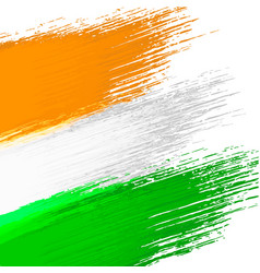 Grunge background in colors of indian flag vector