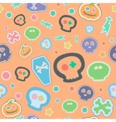 halloween seamless pattern cartoon vector image