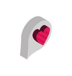 happy valentines day love heart bubble isometric vector image