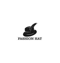 Hat logo design - fashion logo vector