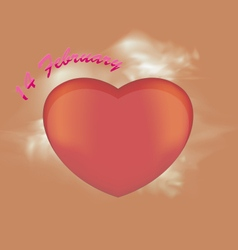 Heart shaped vector
