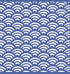 Japanese chinese traditional asian wave pattern vector