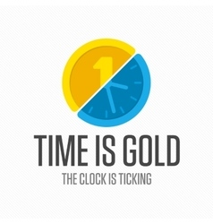 Logo watch with coin vector image