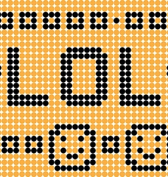 lol dots vector image