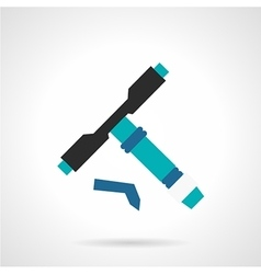 Longboard tool flat icon vector
