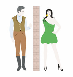 man and woman that are in conflict vector image