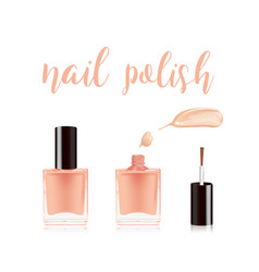 Nail polish in bottle with the bottle lid on top vector