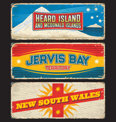 New south wales jervis bay heard and mcdonald vector