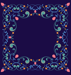 ornamental stylish border vector image