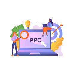 Pay per click concept vector