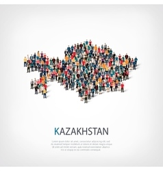 people map country Kazakhstan vector image