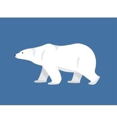 Polar bear hand drawn flat style vector image