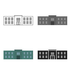 Police station icon cartoon single building icon vector
