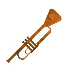 Polygon texture trumpet icon vector