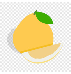 Pomelo isometric icon vector