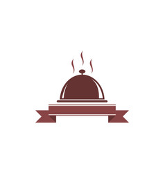 restaurant logo food cuisine icon vector image