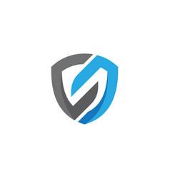 s letter shield vector image