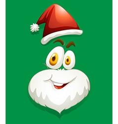 Santa face on green vector