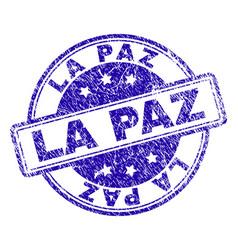 scratched textured la paz stamp seal vector image