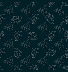 seamless pattern contours of vegetables corncob vector image