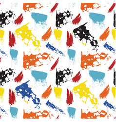 seamless repeating pattern of brush strokes vector image