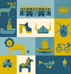 Set of symbols Stockholm vector