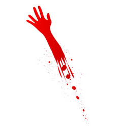 severed arm vector image