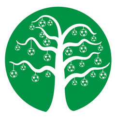 soccer tree vector image