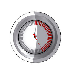 Sticker silver screen timer counter vector
