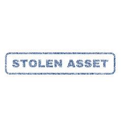 Stolen asset textile stamp vector