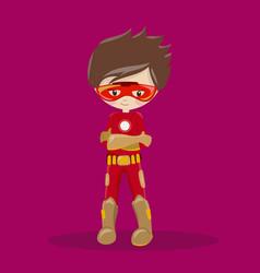Super hero boy brown ironman 10 vector