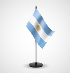 Table flag of Argentina vector image