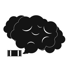 Tear gas icon simple style vector