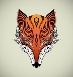 Tribal Fox 1 vector image