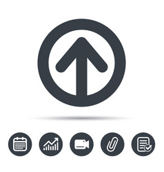 Upload icon load internet data sign vector